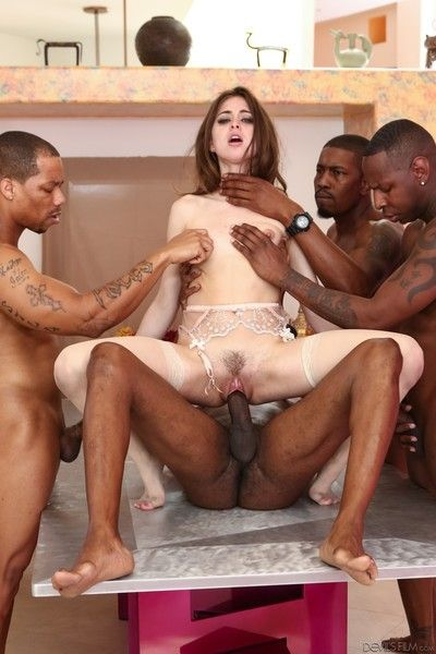 Riley reid in interracial group action