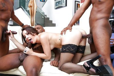 Sweet Marley Blaze was drilled hard by her interracial friends