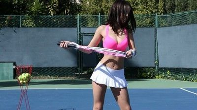 Dillion harper and her coach have their work out