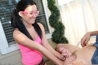 Busty teen molly bliss milking stiff dick for some jizz