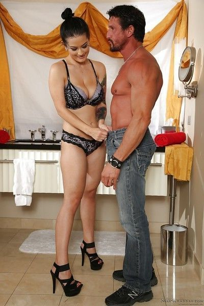 Busty Asian babe Katrina Jade getting fucked by muscular stud