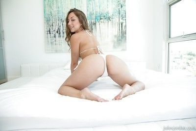 Panties clad girl Remy LaCroix spreads ass for hardcore anal penetration