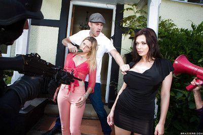 Brunette office lady with big tits Aletta Ocean enjoys hardcore fuck