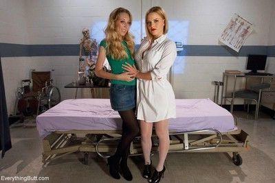 Nurse krissy lynn spanks and fucks emma haize in this kinky all anal scene. we s