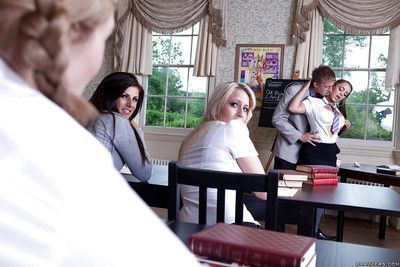Filthy schoolgirl with big jugs gets shagged by her horny teacher