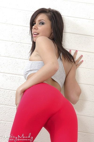 Cute teen in yoga pants