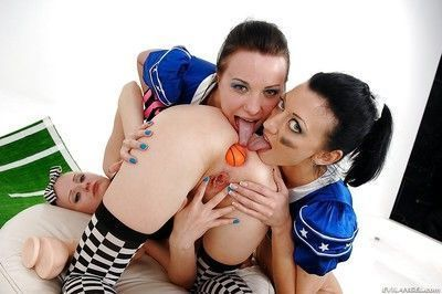 Fuckable lesbians are into hardcore anal action with their toys