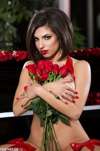 Darcie dolce seduces in titillating lingerie on valentines day