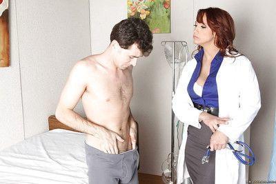 Sexy uniformed doctor with huge hooters Nikki Hunter in groupsex