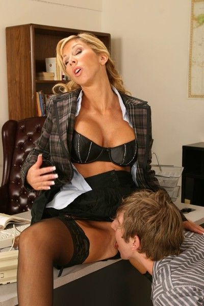 Milf teacher is double dicked after class