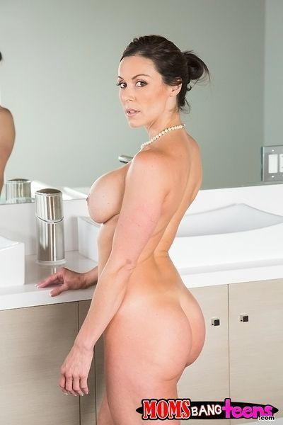 Big tit and ass brunette milf Giselle masturbating in the bath