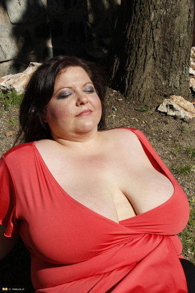 Big breasted mature slut fucking and sucking hard