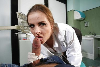 Blowjob queen Candy Alexa surely knows what to do with that cock