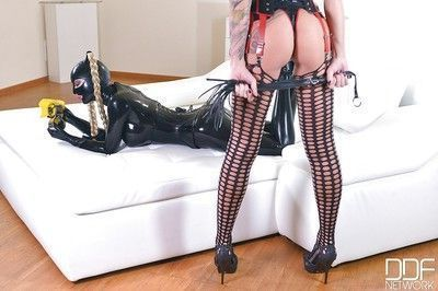 Hot Kayla Green and Latex Lucy shoot exciting BDSM action flick