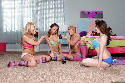 Alina Li and Carmen Caliente are having girl time in sexy socks