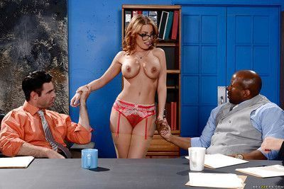 Pornstar Britney Amber taking interracial gangbang from big cocks