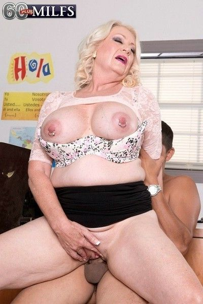 Hot busty 60milf angelique dubois teaching how to fuck