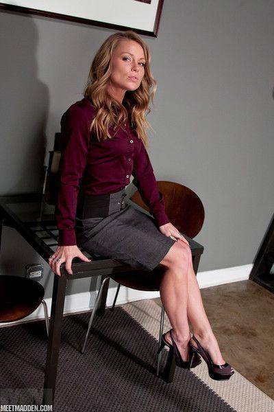 Madden in skirt