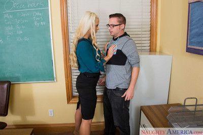 Lucky student fucks horny big tit teacher