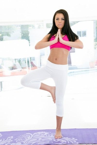 Adriana chechik and alina li get naked and do yoga