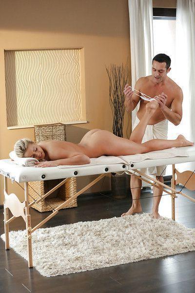 Christen Courtney enjoys oil massage before ass licking and anal fingering