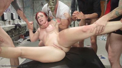 Hardcore gangbang is proud to debut sophia locke in a no holds barred, high inte