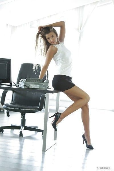 Office masturbating session with a pornstar babe Maria Rya