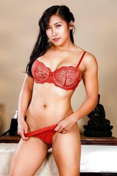 Busty Asian female Mia Li receiving massage before blowing Ryan McLane