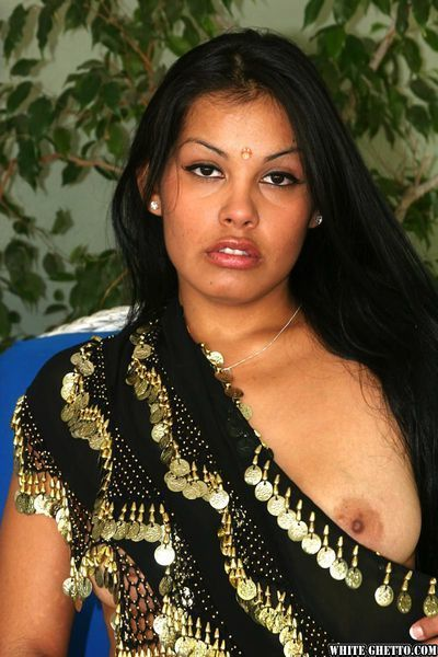 Indian amateur with nice tits and belly piercing taking doggystyle fucking