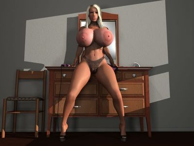 Bigtitted 3d golden-haired in underclothing shows spacious reject marangos