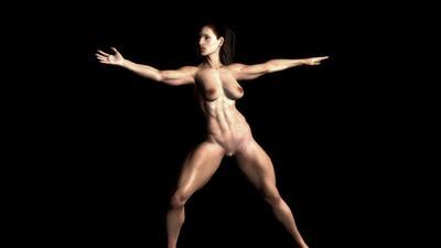 SHEMUSCLE GIRL- ANDREA GIABELLA  Posing 1